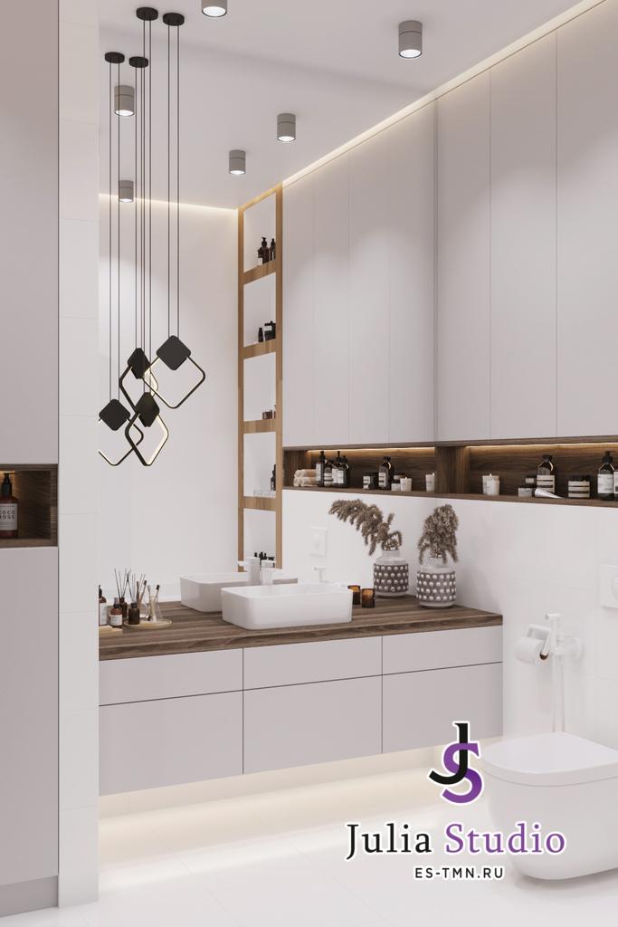 """Дизайн ванной комнаты в """"Новин квартал"""""""