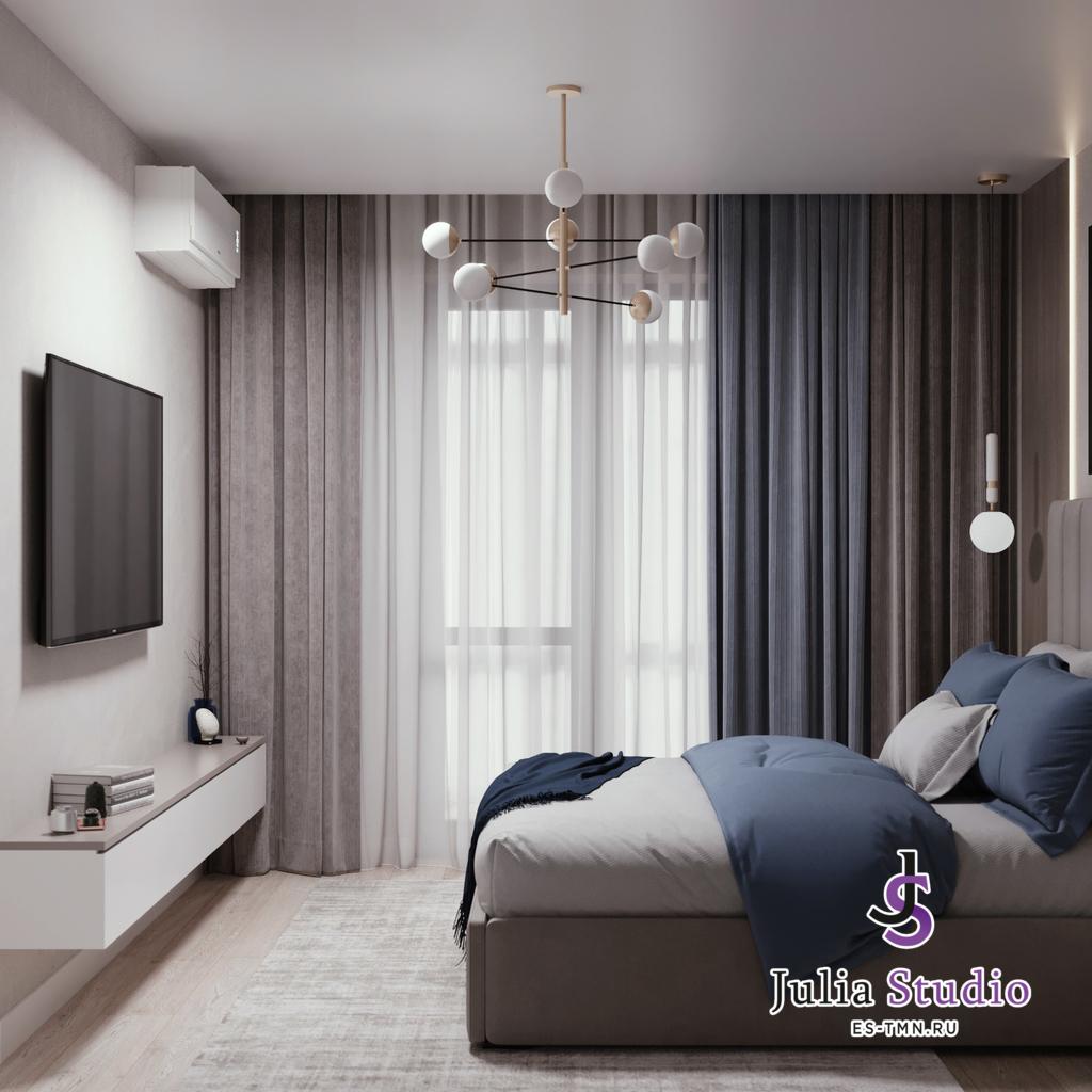 Спальная комната с рабочим местом