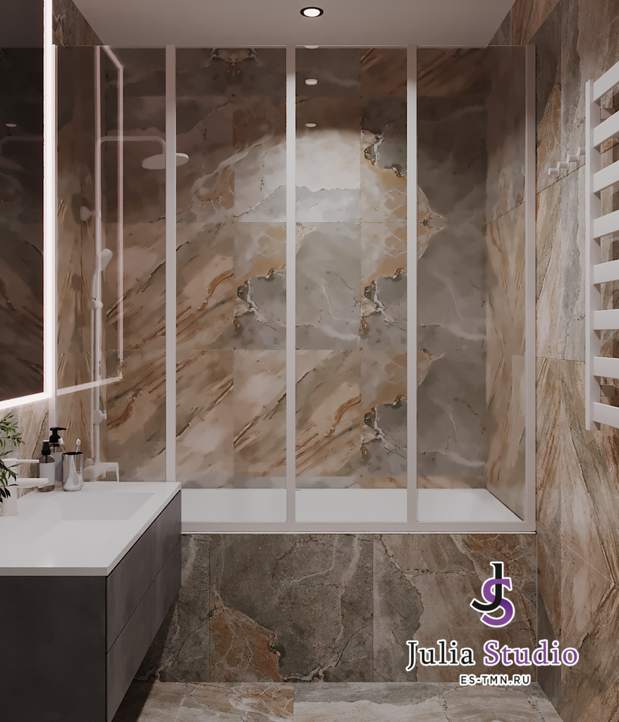 Ванная комната в мастер-спальне