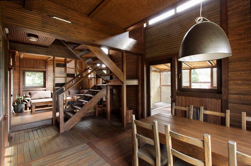 Дизайн домов деревом